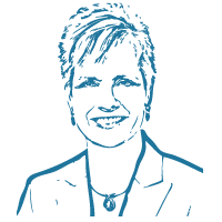 drawing of a management recruiter